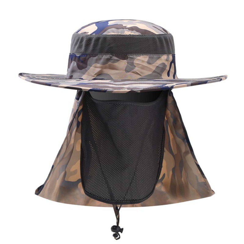 2017 Fishing Caps Boating Hiking Army Military Snap Brim Ear Neck Cover Sun Flap Cap