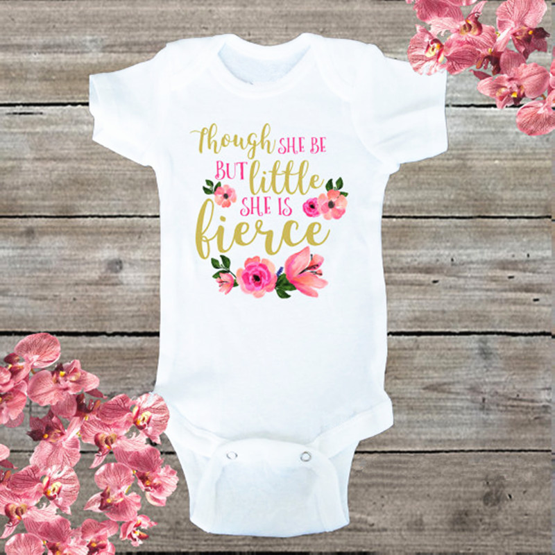 2018 Cute Floral Letter Printed Short Sleeve Baby Clothes Baby Unisex  Jumpsuits Onesie Bodysuit Overalls Cheap Infant 68231162d26c