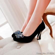 ปั๊มรองเท้าผู้หญิงM Atteใหม่32 33 40 41 42ส้นสูง8เซนติเมตรหนาส้นรองเท้าผู้หญิงกับรองเท้าส้นหลาขนาดเล็กขนาดEUR 31-43