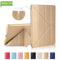 Case For IPad Air GOLP Super Light Luxuy Magentic Multi Angle Stand PU Leather Cover PC