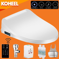 KOHEEL Intelligent Toilet Seat Washlet Elongated Electric Bidet Cover Smart Bidet Toilet Seats Heating Sits Led