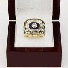 Venta al por mayor 1972 Miami Dolphins Super Bowl réplica de cobre alta calidad chapado en oro Fans Championship anillo con Gorgeous caja de madera