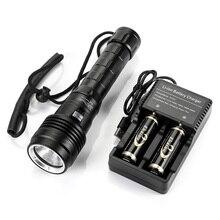 New Model Super Bright Waterproof 100m XHP50 LED Diving Torch Flashlight 5000 Lumens Dive Torch