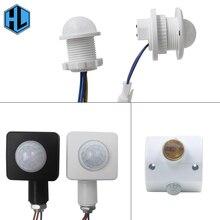 цена на 1pcs PIR Adjustable Infrared Motion Sensor 40mm Human Body Detector Time Delay Adjustable Switch for LED Lighting Fixture