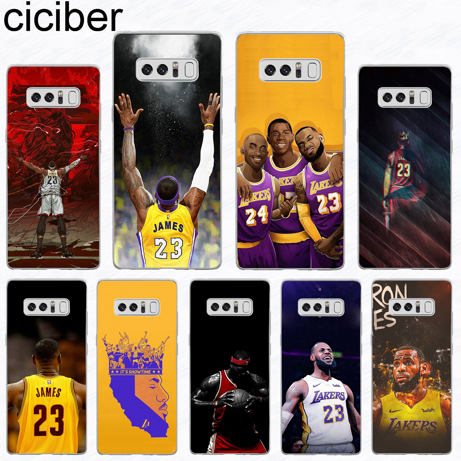 d39514cf37e5 ciciber For Samsung Galaxy S 5 6 7 8 9 Edge Plus Soft Silicone TPU LeBron  James Phone Case For Galaxy Note 3 4 5 8 9 Fundas Capa-in Fitted Cases from  ...