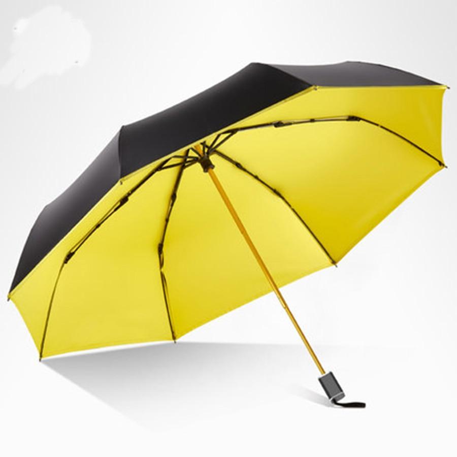 Parapluie de pluie pliant soleil femmes UV noir hommes filles voyage nouveauté imperméable parapluies mâle Parasol extérieur Modis cadeaux 40YS070