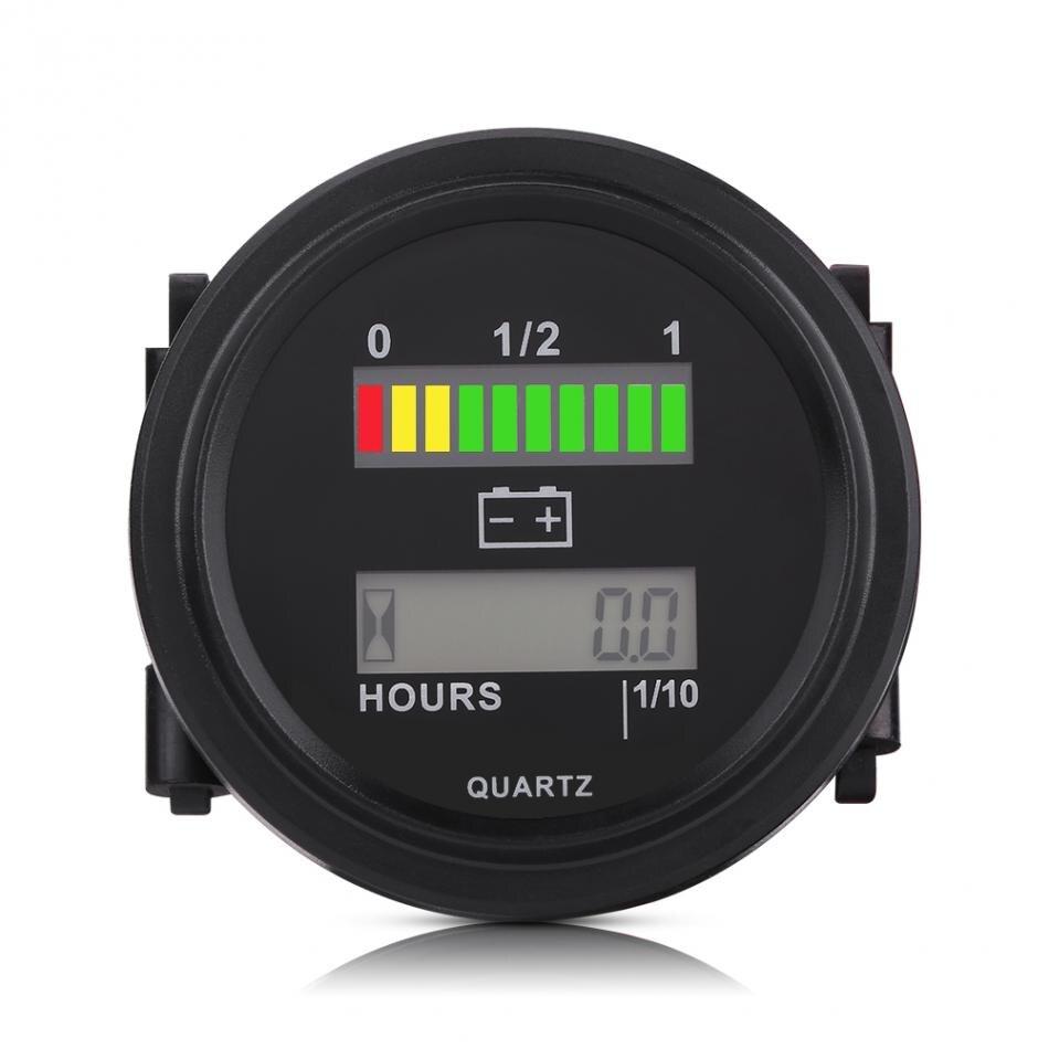 vvvvv led digital battery indicator gauge  hour meter  golf cart car