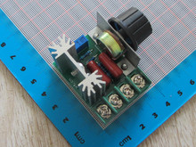 On Sale Free Shipping AC 220V 2000W SCR Voltage Regulator Dimming Dimmers Speed Controller Thermostat