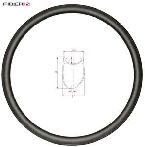 Image 1 - 38 milímetros Clincher U forma assimétrica disco estrada aro de carbono 700c roda cyclocross
