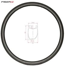 38mm asymmetric Clincher U shape road disc carbon rim 700c cyclocross wheel