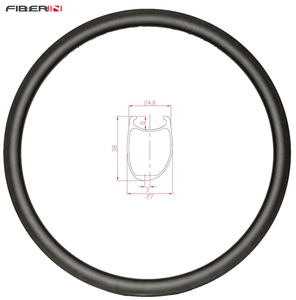 Image 1 - 38mm asymmetric Clincher U shape road disc carbon rim 700c cyclocross wheel