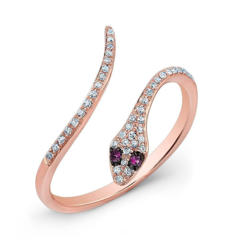 Stackable Rings Animal-Jewelry Punk Clear Gold-Color Women Mujer for CZ Joyeria Inoxidable