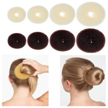 Hair Bun Maker Donut Magic Foam Sponge Easy Big Ring Hair Styling Tools  Accessories For Girls Wholesale Hair Donut Braider 1