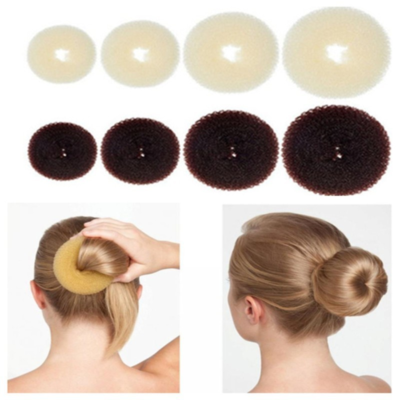 Hair Bun Maker Donut Magic Foam Sponge Easy Big Ring Hair Styling Tools  Accessories For Girls Wholesale Hair Donut Braider