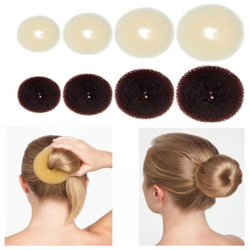 Булочка для волос, волшебный Поролоновый спонж, легкое большое кольцо, инструменты для укладки волос, аксессуары для девочек, оптовая прода...