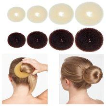 Donut de espuma mágica para hacer moños en el pelo, anillo grande fácil, herramientas de estilismo para el cabello, accesorios para niña, trenzado de rosquilla para el cabello, venta al por mayor