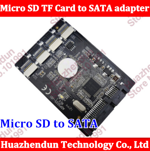 Free shipping New 4 Micro SD TF Card to 22pin SATA adapter card 2.5 hdd enclosure with RAID 0 Multi TF cards to SATA converter 2017 new cards 42pcs set poke go mons card game english anime pokemoned cards with metal box best toy for children free shipping