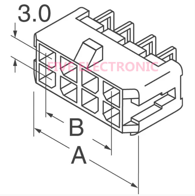 Lot 43045 0800 Conn Header 8 Positions Header Connector 0 118