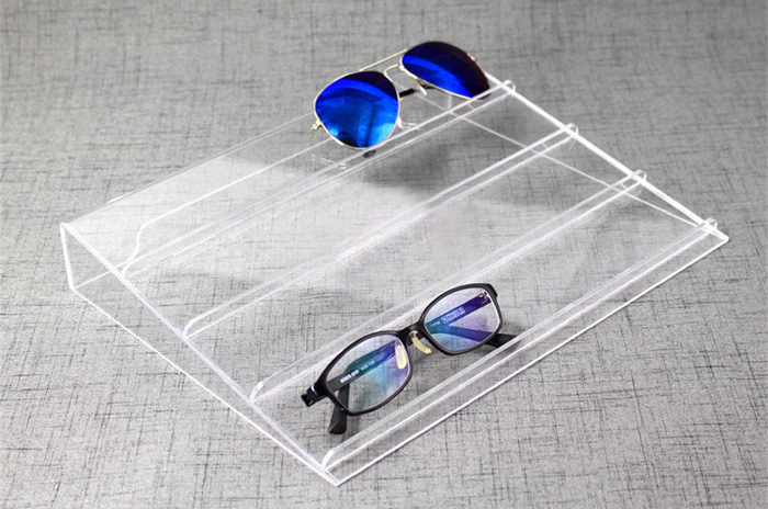 4 Slot Modern Clear Acrylic Sunglasses Display Holder Stand Retail Optical Rack acrylic sunglass glass rack optical display frame glasses stand holder organizer clear