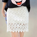 2016 summer high waist maternity short belly skirt clothes for pregnant women light white black pregnancy clothing lace skirts