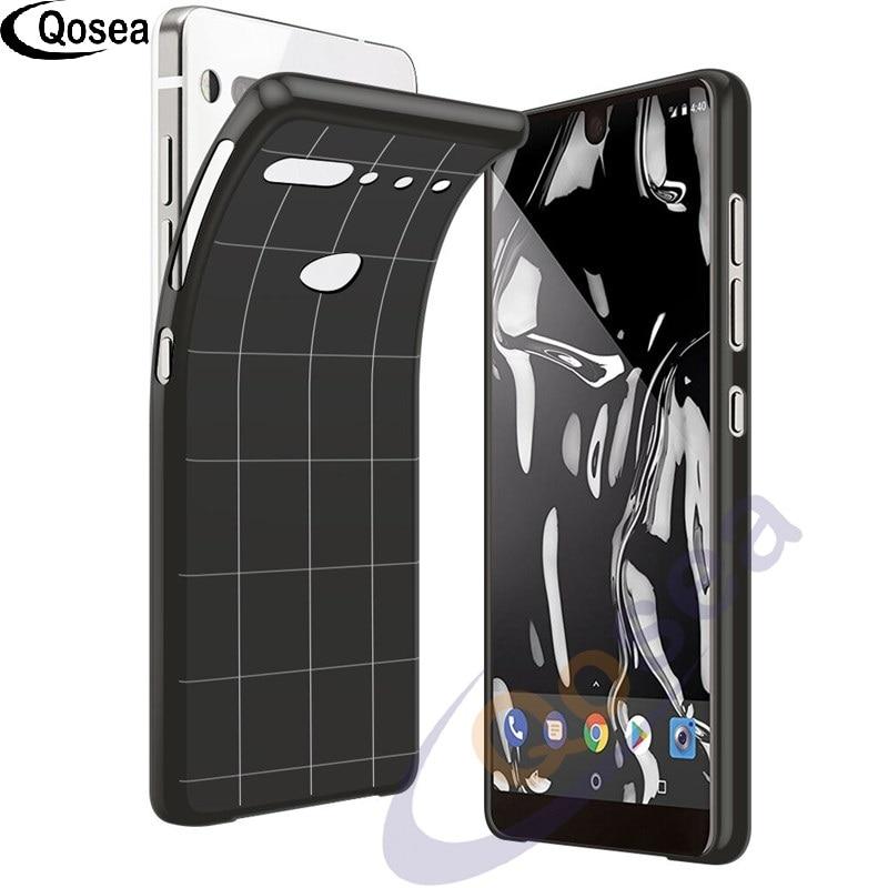 Qosea для эфирного чехол для телефона тонкий мягкий силиконовый Ultra Clear ТПУ для эфирного телефон защитные назад черный крышка решетки