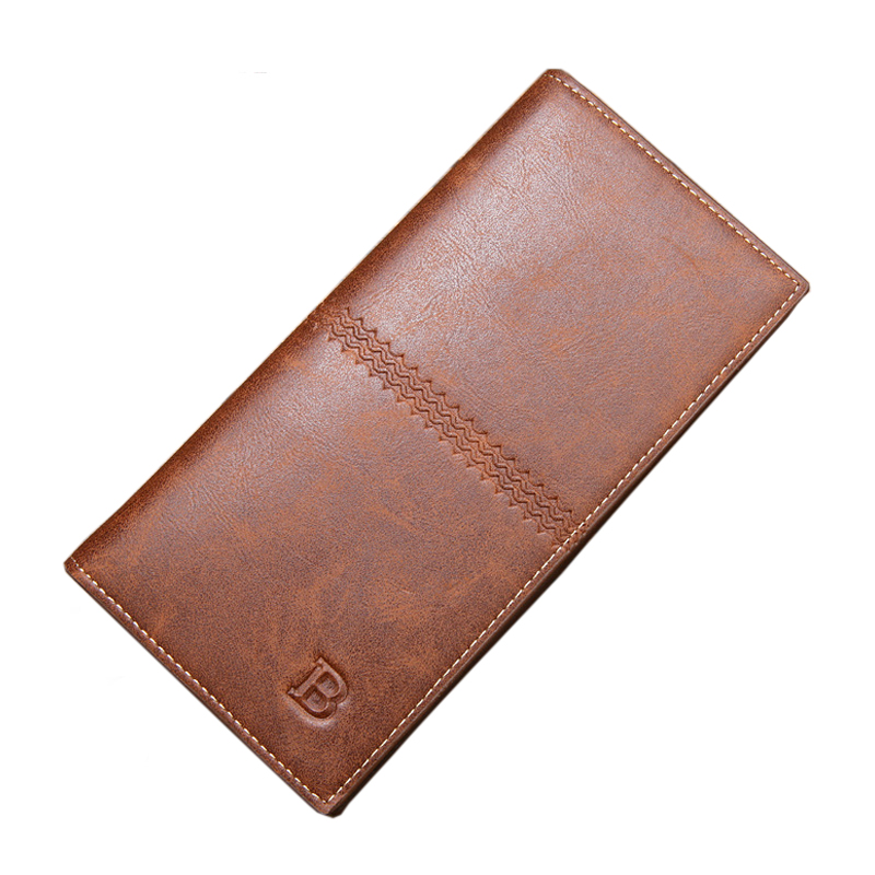 Men Wallet Genuine Leather Women Card Coin Holder 2017 Hot Long Phone Clutch Vintage Money Pocket Clip Famous Brand Male Purse large capacity women wallet leather card coin holder money clip long clutch phone wristlet trifold zipper cash female purse