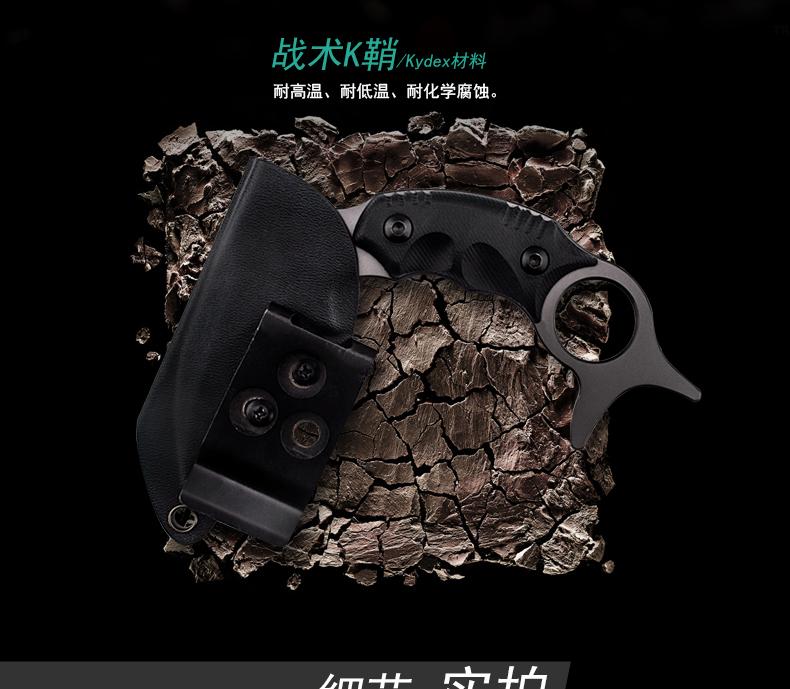 Купить Hx Открытом Воздухе Karambit Нож Выживания Охота Кемпинг Cs Ходу Нож Tianium Фиксированным Лезвием 440C Тактический Охотник Ножи Cold Steel EDC дешево