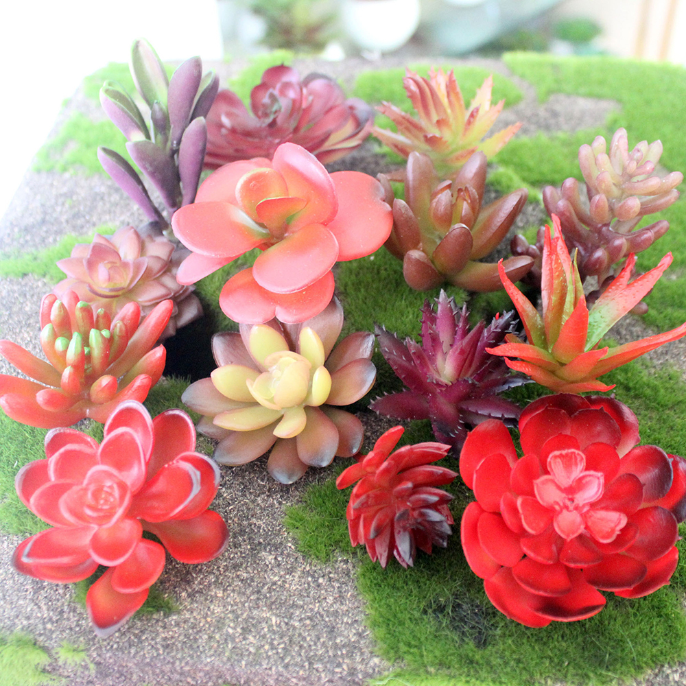 2016 mini artificial succulents plants grass artificial for Garden arrangement of plants