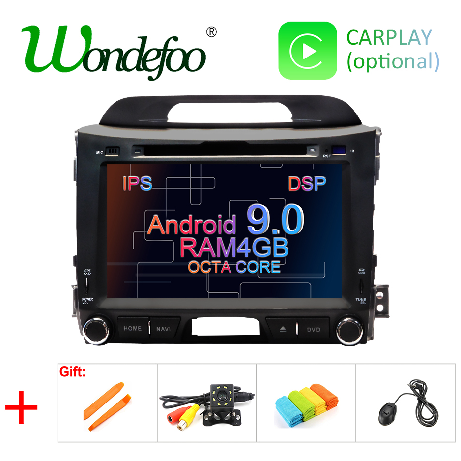 DSP IPS AV Output 4G Android 9.0 CAR DVD PLAYER For KIA sportage GPS navigation stereo screen radio receiver audio