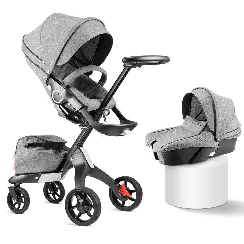 2019 nuevo de alta calidad 75cm de alto paisaje cochecito de mano puede sentarse reclinable plegable amortiguador cochecito de bebé