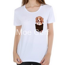 Bolso Bolso Bonito Bonito Beagle T-Shirt Impresso projeto Bonito Do Cão mulheres  tops 2018 New Arrivals verão o pescoço roupas F.. 3084db8213d