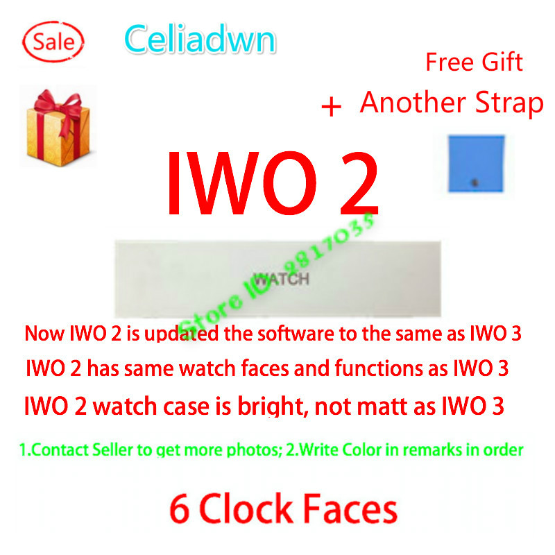 Celiadwn Smart Watch IWO 2 Upgrade Bluetooth Music 1:1 42mm Clock Smartwatch Heart Rate Monitor For iOS Android Phone PK IWO 3