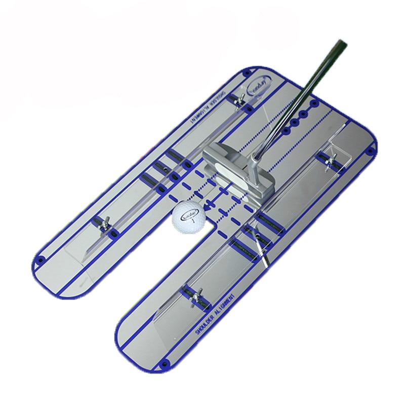 Golf Putt Mirror Golf Training Swing Swing For Its Auxiliary Mirror Golf Supplies 17.8 X 9.6 Inch