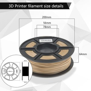 Image 3 - SUNLU Woood fiber 3d printer filament PLA&wood 3d filament 1.75mm 1kg wood fialment with 18%wood fiber & 82% PLA no bubble