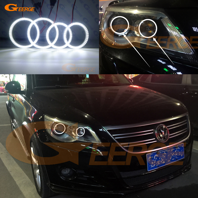 For VOLKSWAGEN VW TIGUAN 2009 2010 2011 XENON headlight Excellent Ultra bright illumination smd led Angel