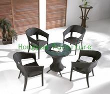 Brown new pe rattan garden set ,garden table chairs