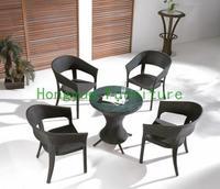 Brown New Pe Rattan Garden Set Garden Table Chairs