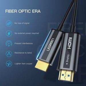 Image 3 - UGREEN HDMI 2.0 Cavo 4K 60Hz In Fibra Ottica HDMI Cavo 2.0 HDR per HD TV Box Proiettore PS4 cavo HDMI 10m 30m 50m 100m Cavo HDMI