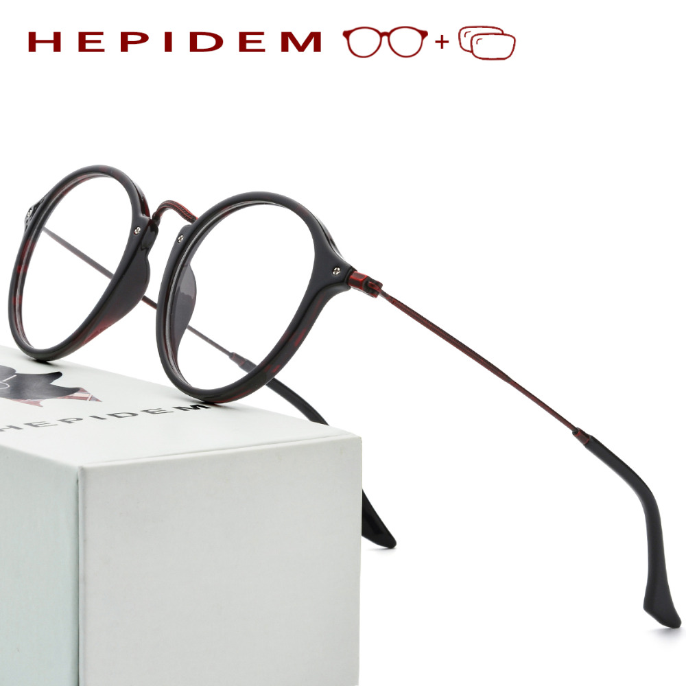 Acetate Optical Prescription Glasses Frame Women Metal Round Oliver Eyeglasses Fors Men Peoples High Quality Spectacles Eyewear acetate prescription glasses frame men oliver full round spectacles fors women peoples optical nerd myopia wood grain eyeglasses