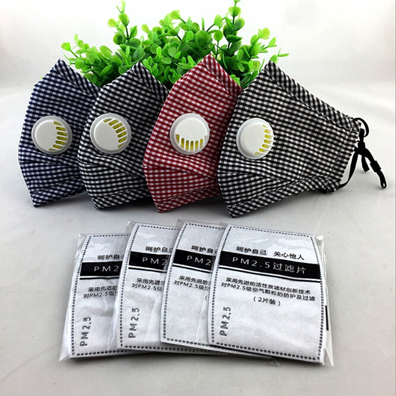 PM2.5 Anti Haze Mask Anti Pollution Mask Dust Respirator Washable Reusable Cover Cotton Unisex Mouth Muffle Travel/ Cycling