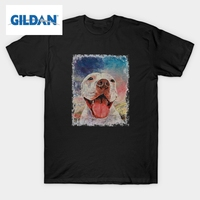 T Shirt Pitbull American Dog Crew Neck Short Sleeved Tops Vintage T Shirt Newest Teenage Crazy