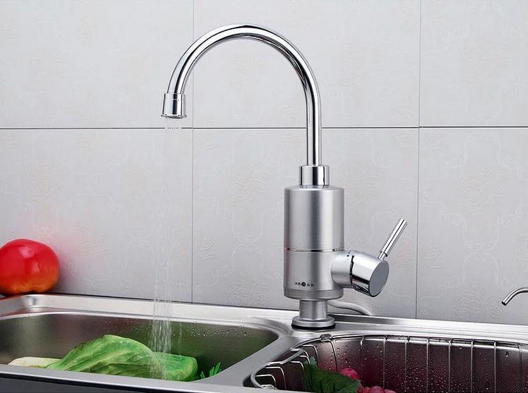 Multi fonction 3000 w sans réservoir robinet électrique chaud protection contre les fuites électrique instantané chauffe-eau du robinet d'eau chaude