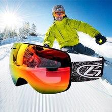 a2f35748ab25 Ski Goggles UV400 Skiing Eyewear Ski Snowboard Goggles Men Women Ski  Glasses Winter Snow Sunglasses Googles