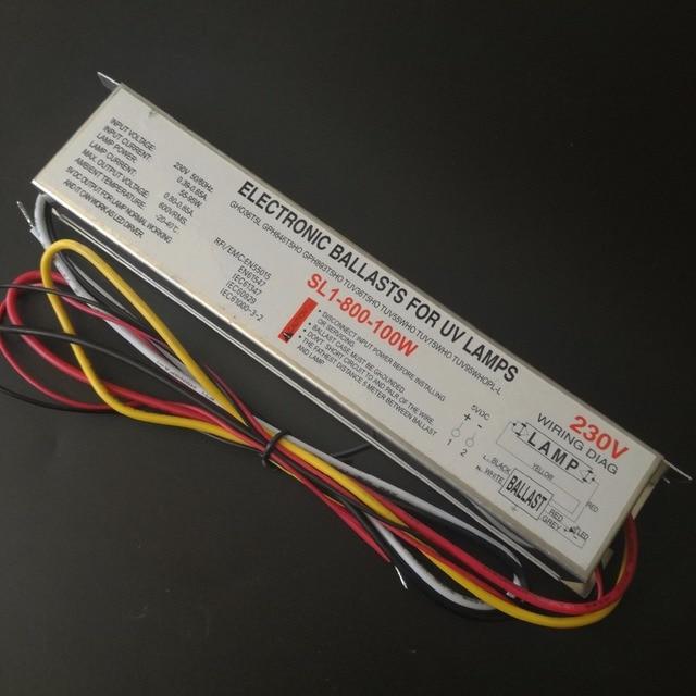2 Pz 100 W 230 V Lampada Germicida Reattori Elettronici Uv Ballast