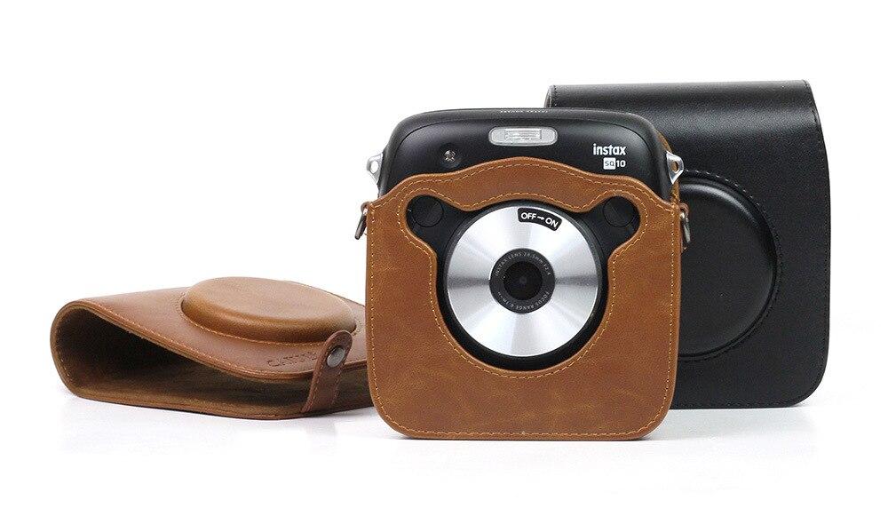 FUJIFILM Instax Plaza SQ10 Cámara bolsa de cuero de la PU caso Vintage correa de hombro bolsa Cámara llevar protección de la cubierta caso