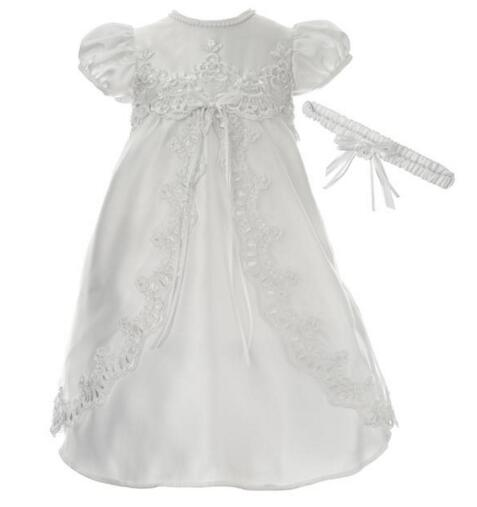 High Quality Custom Baby Girl Christening Dress With Headband Baptism Gown White/Ivory Lace Baby Girl Boy Party Dress 0-24Month женские часы storm st 47271 gd