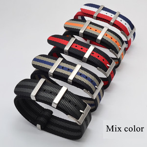 Image 2 - Fashion Nylon Watchband Nato Strap G10 for Omeg a for IW C Sports Watchstrap 007 for Seiko Colorful Bracelet 19mm 20mm 21mm 22mm