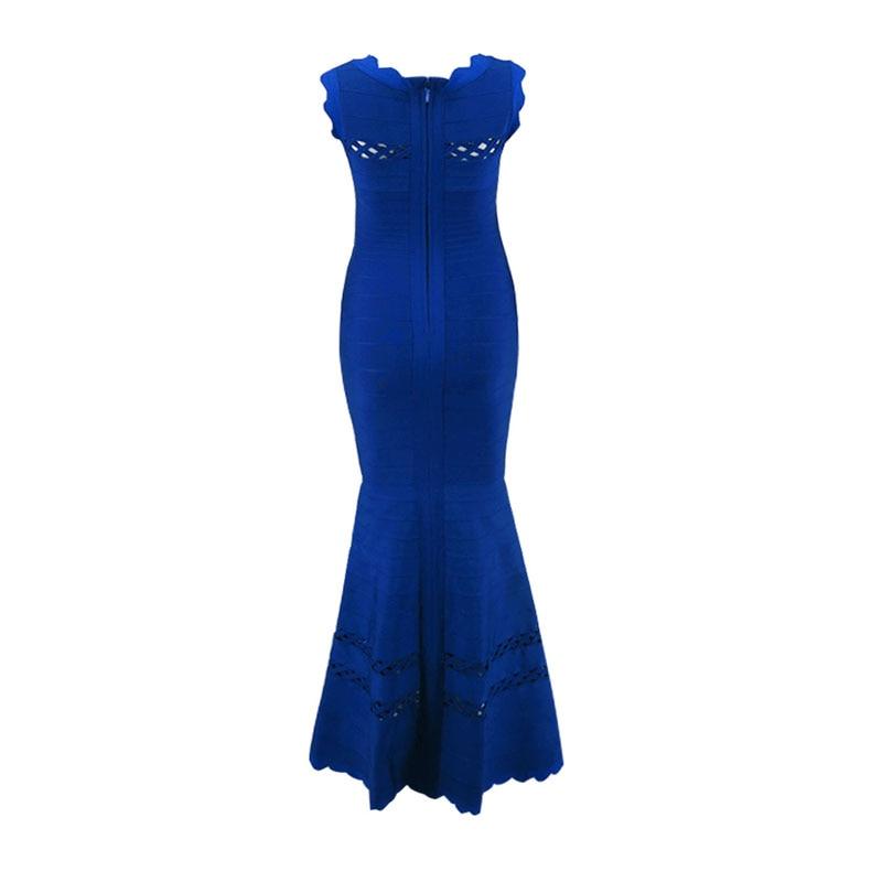 En De Bleu Robe Bandage Tricoter Longue h1943 Casual Luxe Nouvelle Élastique Cocktail À Femme Mode 2018 Gros z4qxI6nrz