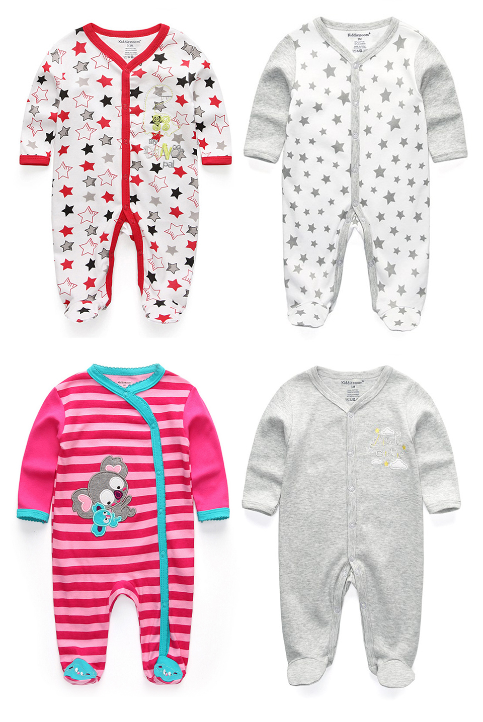 Newborn Baby winter clothes 2/3pcs baby boys girls rompers long Sleeve clothing roupas infantis menino Overalls Costumes | Happy Baby Mama