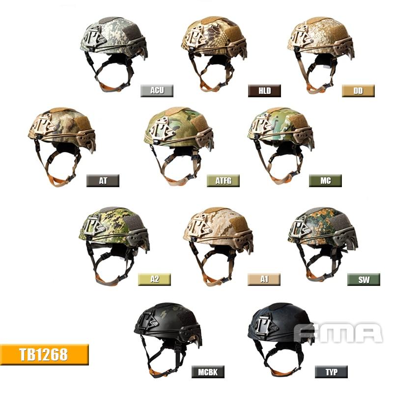 FMA EX Ballistic Helmet A1 A2 MC ATFG AT DD ACU SW HLD TYP MCBK  TB1268-MC Free Shipping fast ballistic helmet rapid response tactical helmet mc fg at tan aor1 digital desert bk woodland atfg acu